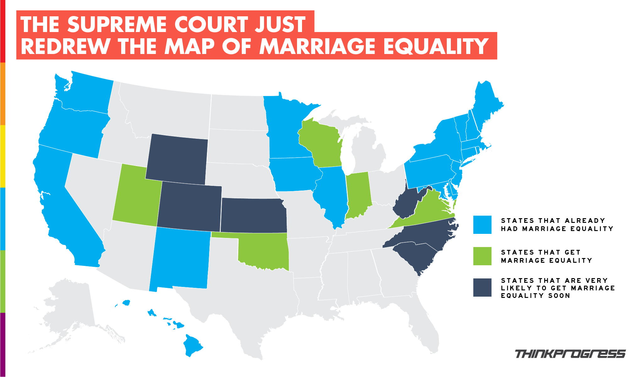 Which states is gay marriage legal — 14