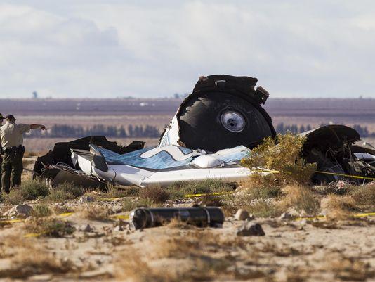 SpaceShipTwo Crash in Mojave Desert