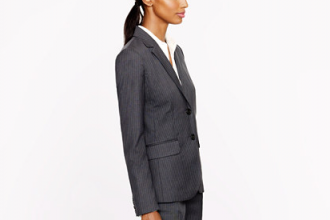 J. Crew two-button jacket in pinstripe